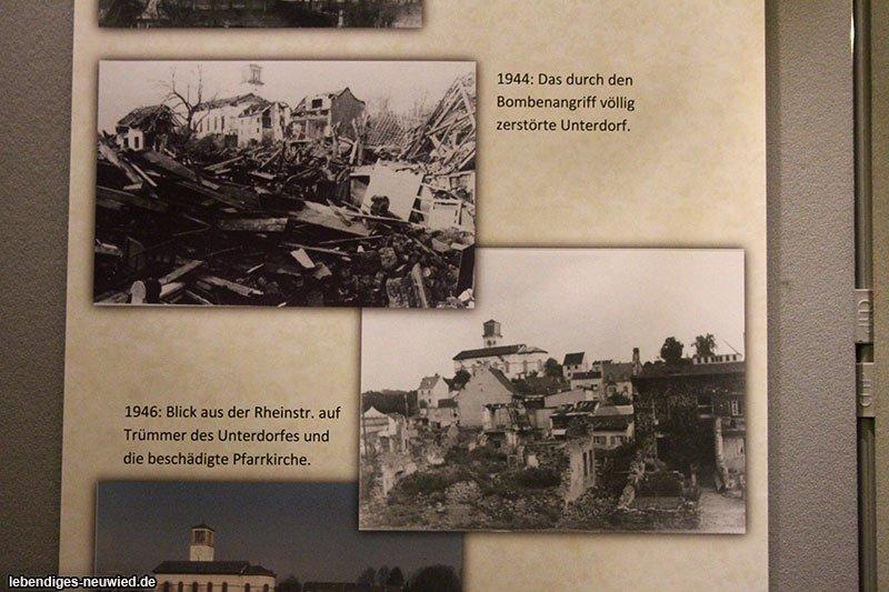 Gedenkfeier Bombenangriff Irlich Ausstellung 1